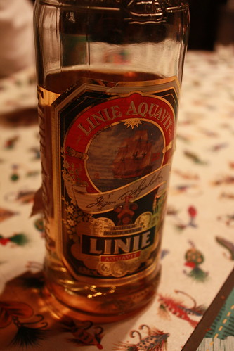 And then we had some shots of Aquavit...