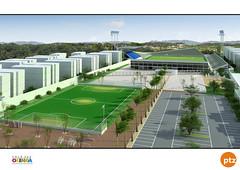Projeto do complexo esportivo e de lazer em Rio Doce