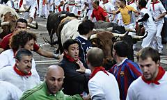 Corredores en San Fermín