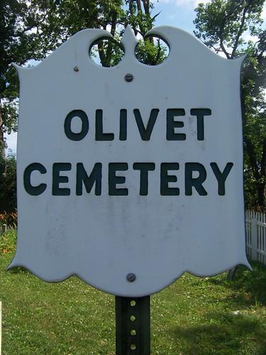 Olivet Cemetery sign