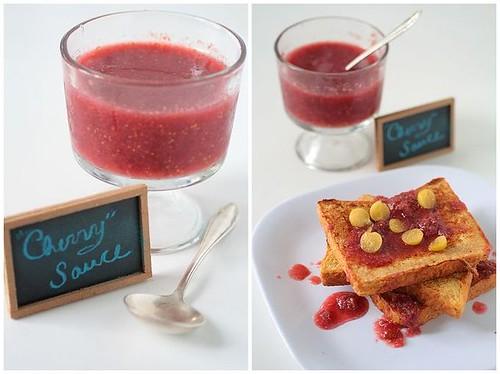 Cornelian and Ground Cherry Sauce