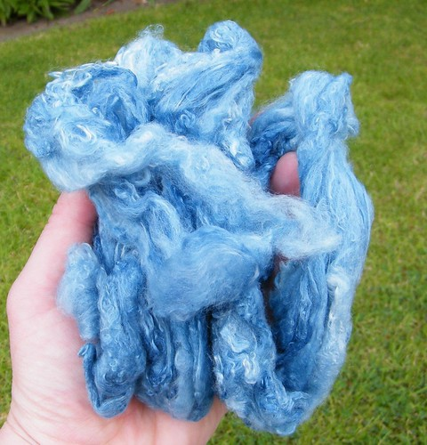 Lovely chunk of indigo silk
