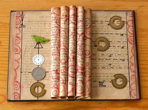 Altered book collage - Change the way you tell the story