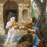 Krishna and the fruit vendor