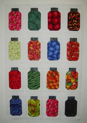 Canning Jar Quilt Top
