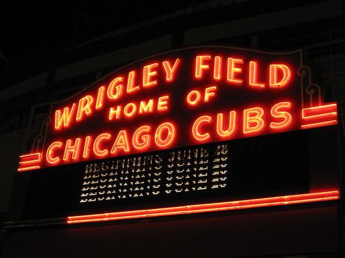 Wrigley Field Neon Sign by dmatp