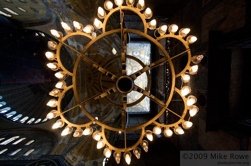 Chandeliers, light and ceiling