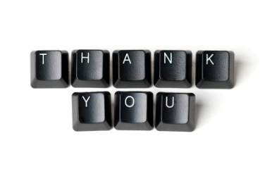 thank you on keyboard keys