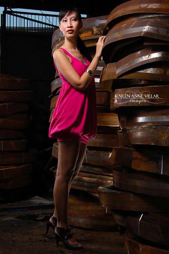 Loren in Hot Pink
