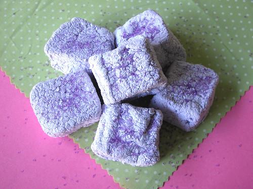 Purple sugar Halloween marshmallows