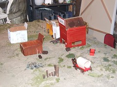 Scene for an Old West skirmish wargame.