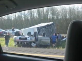 Passing an Overturned RV & Car