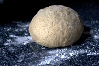 pizza dough, part whole wheat