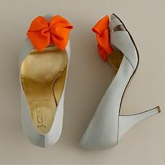 orange bow inspiration shoes