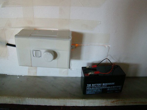External Battery and Dimmer Switch