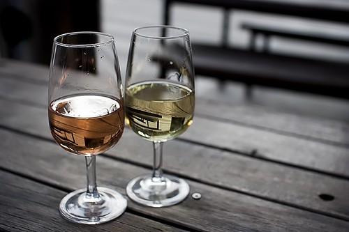 wine at Caboose