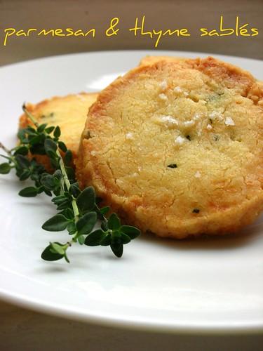 parmesan and thyme sablés