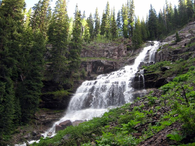 Waterfall on the Clear Lake/Ice Lakes Trail