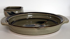 Leonard Bell. Black orchard series dish and bowl
