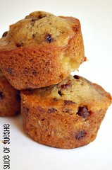 banana-coffee choco chip muffins