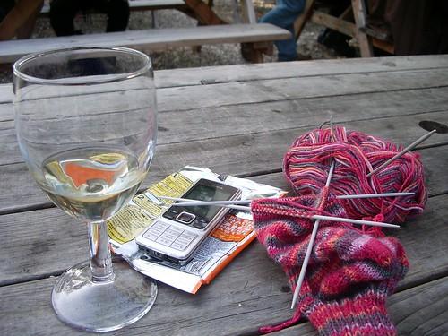 Still life with knitting