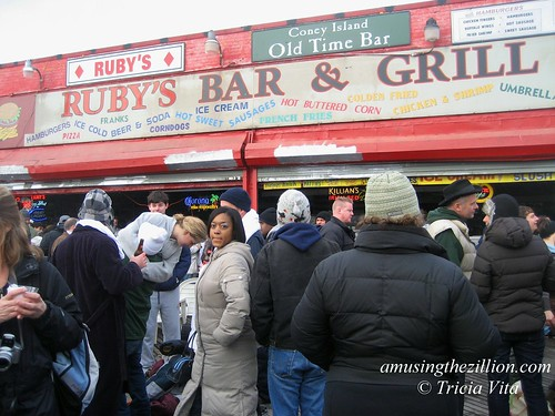 Outside Ruby's Bar on New Year's Day, 2010. Photo © Tricia Vita/me-myself-i via flickr