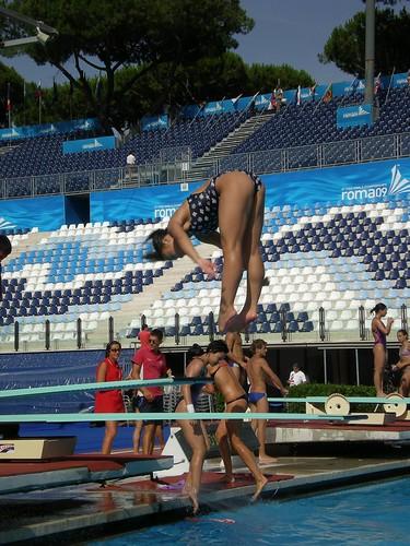 718李小兒在羅馬13世錦賽練習一米板