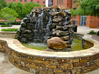 Waterfall Fountain near Old North, UCO