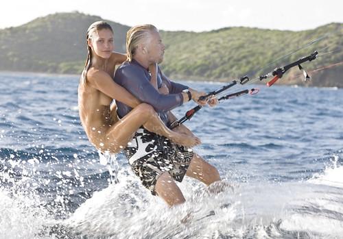 It's tough being Richard Branson (Foto op Flickr van houbi)