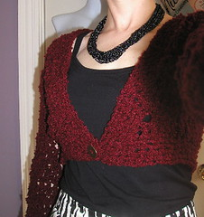 My boucle bolero - not thrilled with it, but its wearable!