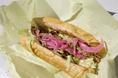 Pulled Pork Sandwich with Pickled Onions