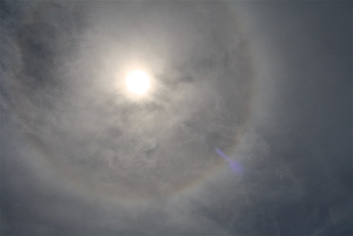 Rainbow Ring During Solar Eclipse
