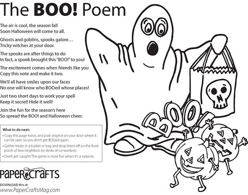 Share a little BOO! with your neighbors or co-workers this Halloween!