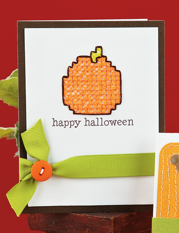 Stitched Pumpkin Greetings Card (p. 60) from September/October issue.