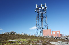 Telecommunications satellites on top of Mount Blair