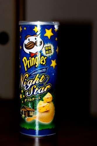 Limited Edition Pringles; not as cheese or night starry as expected.