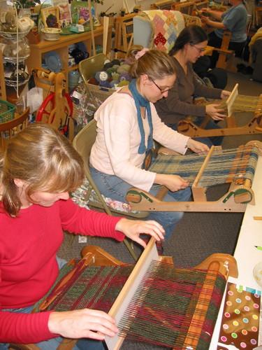 Weaving at The Net Loft