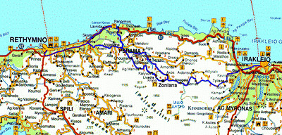 map road to Zoniana