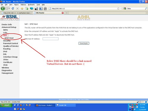 Router Nat Page Without Virtual Servers Link