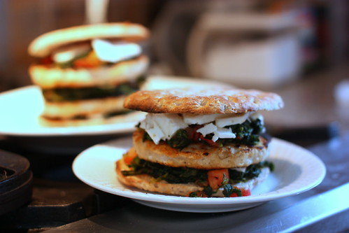 Turkey Burger with Spinach, Feta and Tomato by you.