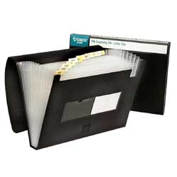 An expandable legal-sized file like this one from an office supply store is the perfect way to store your paper scraps.