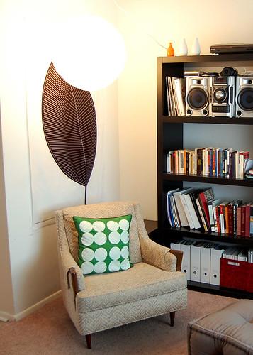 Marimekko fabric, Dwell studio pillow.