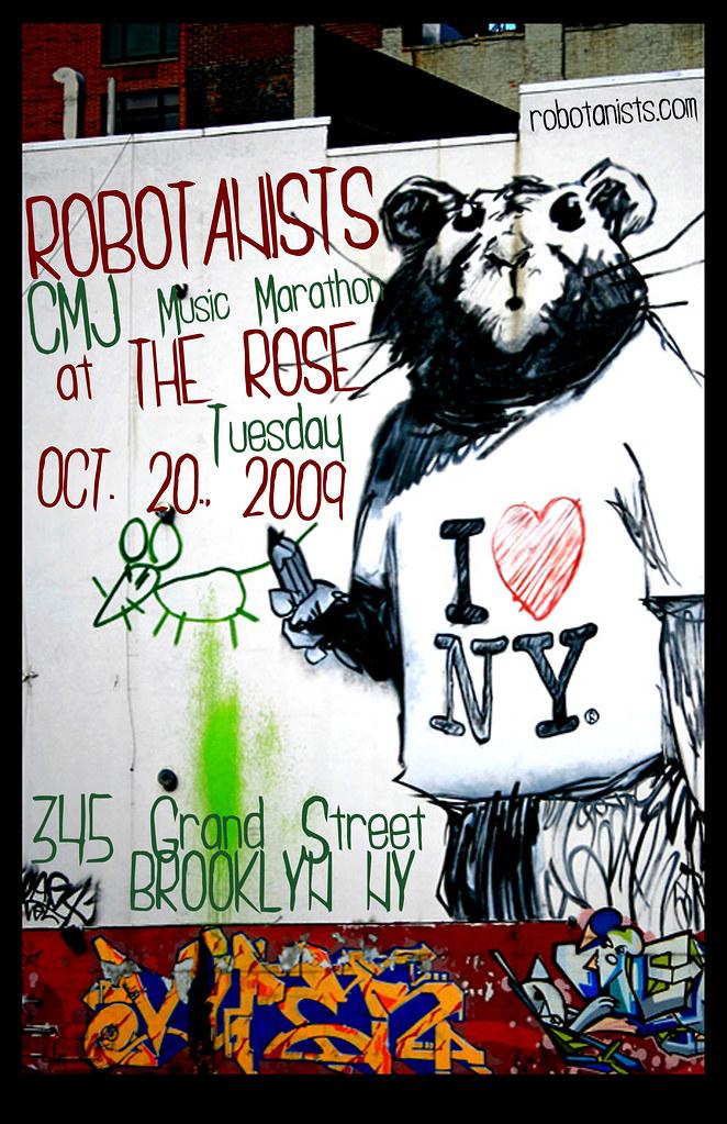 ROBOTANISTS @ CMJ 10.20.2009 - Poster