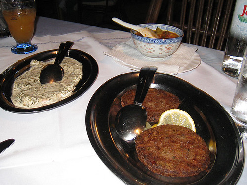 Tuna in capers sauce and octopus burgers