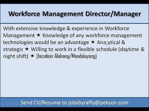 Workforce Management Director / Manager