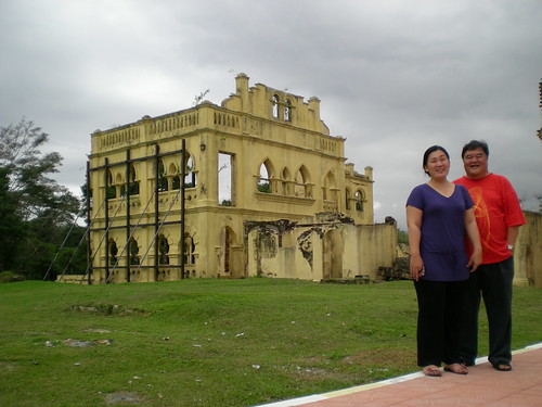 With Mandy at Kellie's castle