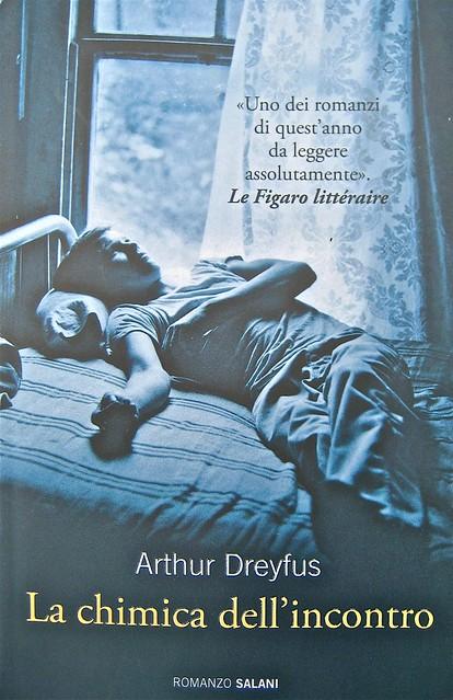 """Arthur Dreyfus, La chimica dell'incontro, Salani 2011; Progetto grafico: Elisa Zampaglione, """"In copertina: foto di Arthur Tress; copertina (part.), 1"""