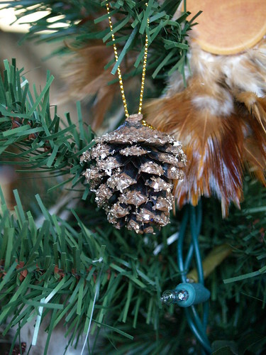 Glittered Pinecone