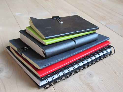 A stack of notebooks. Photo by Lisa Risager