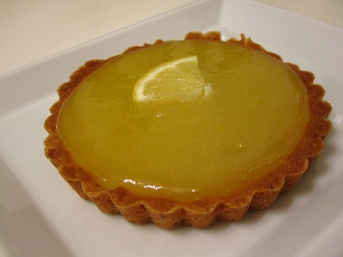 olive oil lemon curd tart